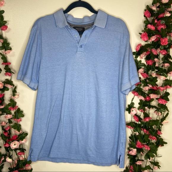 Nordstrom Mens Polo Shirt Light Blue Shortsleeve M